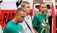 Tomasz Greniuch (pierwszy z lewej) podczas Najazdu ONR na Myślenice