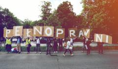 23.05.2019 Warszawa , Demonstracja osob niepelnosprawnych i rodzicow osob niepelnosprawnych . Marsz idzie trasa Palac Prezydencki , Sejm , Kancelaria Premiera .