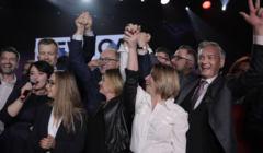 Wieczór wyborczy w sztabie Lewicy - wybory parlamentarne 2019