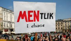 Protest Nauczycieli na Krakowskim Rynku