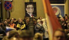 Protest '' Dzis sedziowie jutro TY! '' w Kielcach