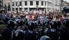 Protest w Moskwie, lato 2019