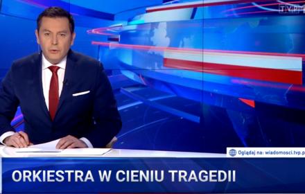 """""""Wiadomości"""" w dniu WOŚP: 14 sekund o finale, 6 minut nagonki na Owsiaka"""