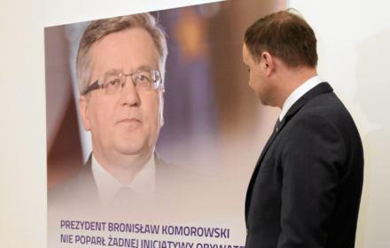 W styczniu Komorowski miał 52 proc., Duda ma 38