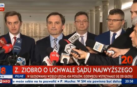 Ziobro i jego zastępcy komentują uchwałę SN