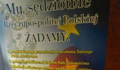 Plakat protestacyjny krakowskich sędziów