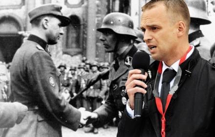 """Szef opolskiego IPN dr Greniuch. """"Wzniesiona ku słońcu prawica, pozdrowienie aryjskiej Europy"""""""