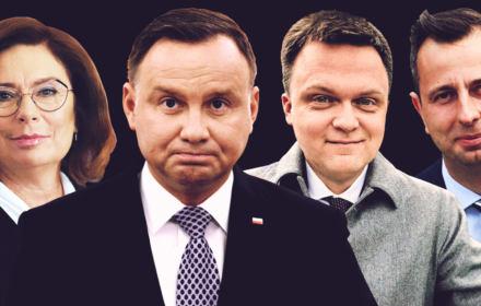Andrzej Duda, Małgorzata Kidawa-błońska, Szymon Hołownia, Władysław Kosiniak-Kamysz