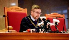 Sedzia Pawel Juszczyszyn podczas rozprawy dot . ujawnienia list poparcia dla kandydatow do ne0 - KRS .