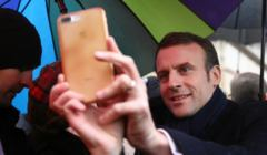Prezydent Francji Emmanuel Macron w Krakowie
