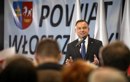 Andrzej Duda przemawia we Włoszczowej