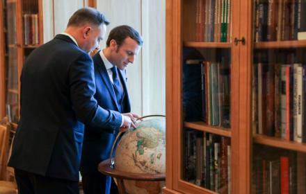 Andrzej Duda i Emmanuel Macron