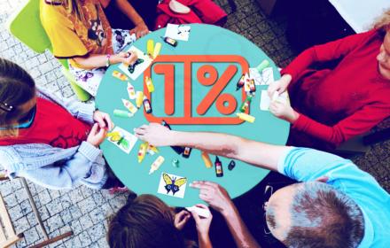 1% podatku dla OKO.press - ilustracja