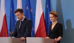 Konferencja prasowa w Warszawie minister rozjowu Jadwigi Emilewicz