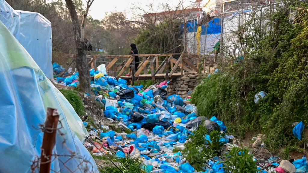 Obóz dla uchodźców na wyspie Lesbos