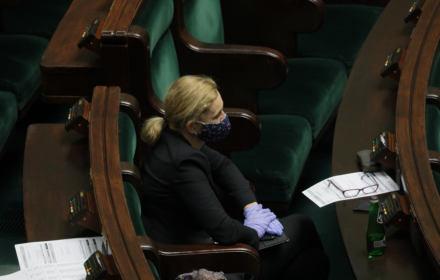 Barbara Nowacka podczas posiedzenia Sejmu