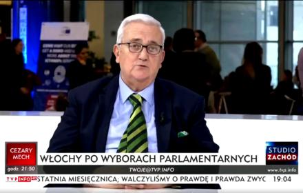 Mario Borghezio w TVP Info