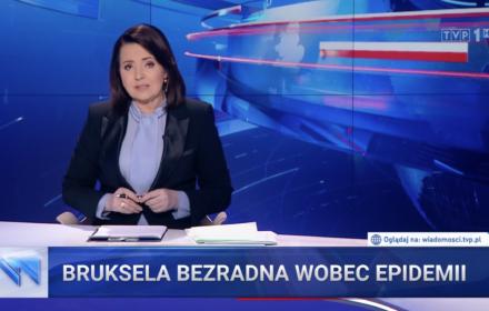 """""""Bezradnie rozkłada ręce"""". TVP wykorzystuje epidemię do oczerniania Unii Europejskiej"""