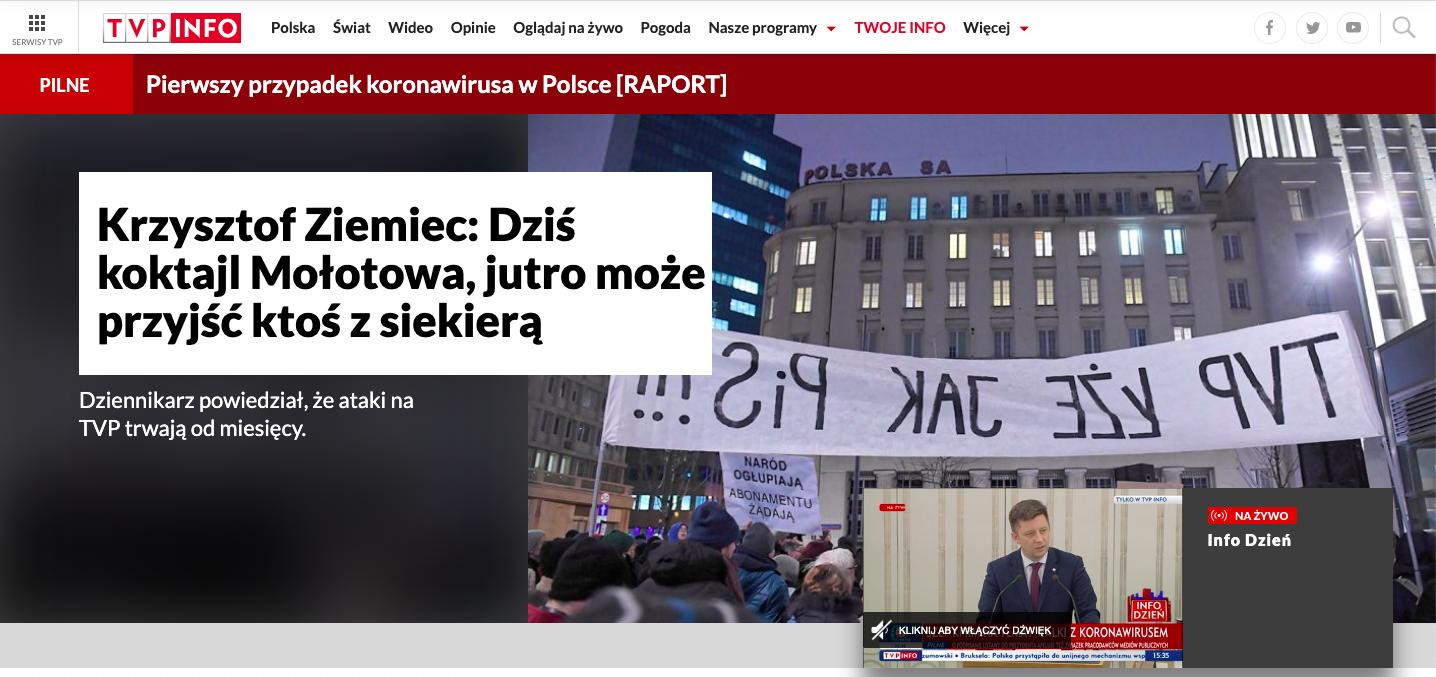 TVP Info do ostatniej chwili walczy o to, żeby prezydent Andrzej Duda podpisał ustawę o 2 mld zł na media państwowe, 6 marca 2020, ok. godz. 15:40