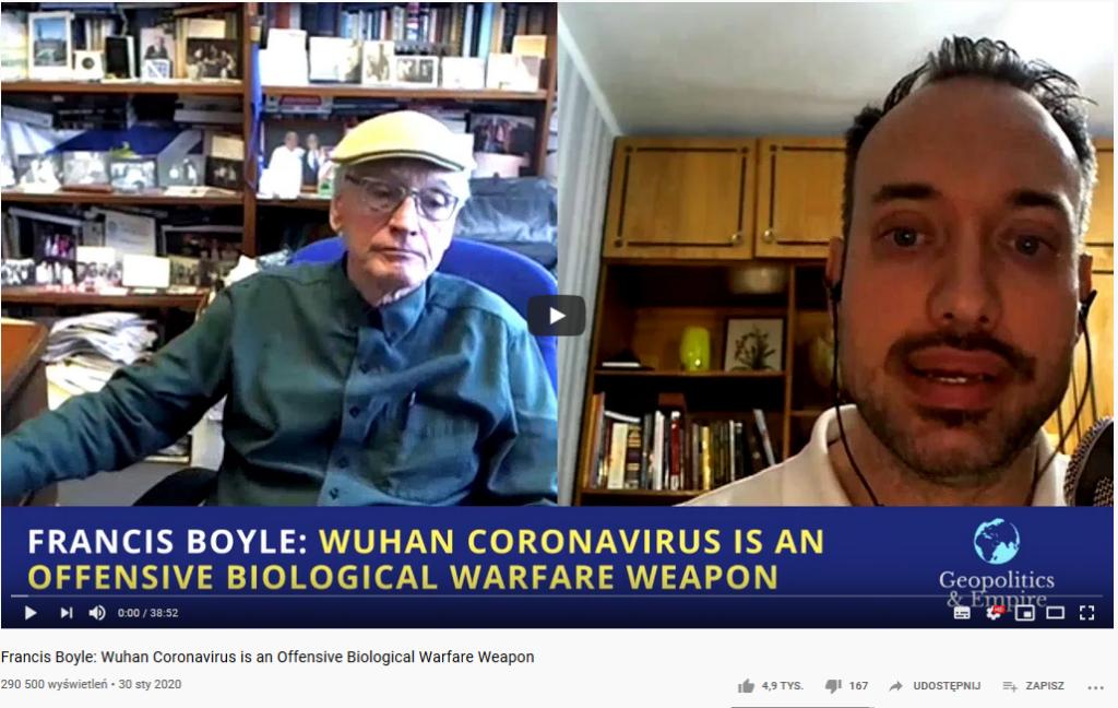 Fake news dotyczący koronawirusa omawiany na YouTube