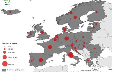 Mapa zakażeń koronawirusem - Europa
