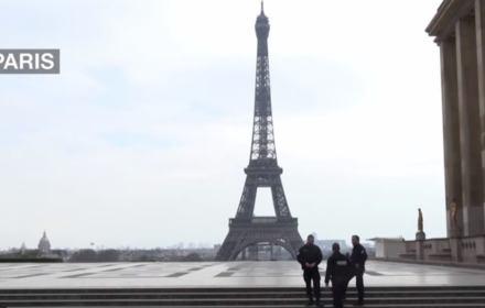 Koronawirus we Francji - wieża Eiffla
