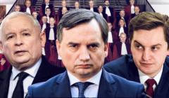 J.Kaczyński, Z. Ziobro, S.Kaleta / il. OKO.press