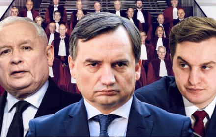 Jarosław Kaczyński, Zbigniew Ziobro i Sebastian Kaleta