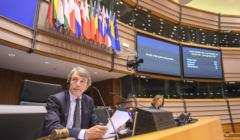 Przewodniczący PE David Sassoli