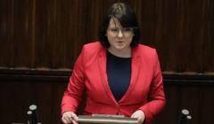 Kaja Godek przemawia w Sejmie. Tematem aborcja