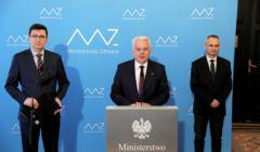Waldemar Kraska podczas konferencji prasowej