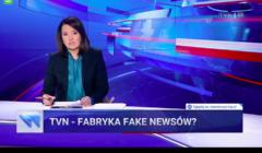 Nagonka Wiadomości TVP na TVN - screen z programu informacyjnego