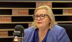 Małgorzata Manowska w studiu programu I Polskiego Radia