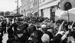 Strajk przedsiębiorców 16 maja 2020, policja używa gazu