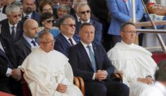 Prezydent RP Andrzej Duda podczas dozynek na Jasnej Gorze w Czestochowie