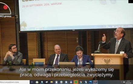 Dawne spotkanie komisarza Stępkowskiego. Kamera OKO.press na półzamkniętej konferencji Ordo Iuris