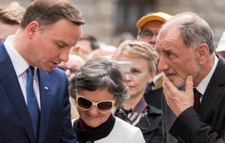 Prezydent Andrzej Duda z rodzicami - Janem Dudą i Janiną Milewską-Dudą