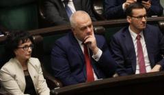 Marszałek Elżbieta Witek, wicepremier Jacek Sasin, premier Mateusz Morawiecki