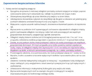 Wytyczne Głównego Inspektora Sanitarnego dla gastronomii