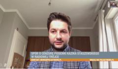 Screen z Polsat News - Patryk Jaki o Kaziku Staszewskim