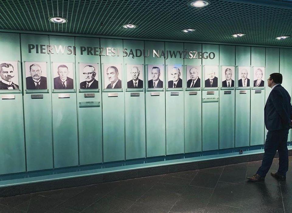 Portrety prezesów Sądu Najwyższego - galeria