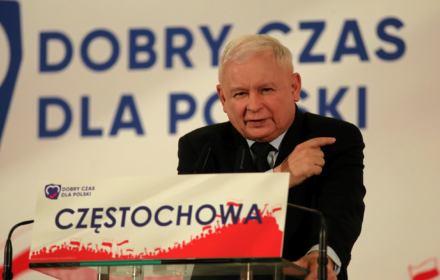 Jarosław Kaczyński przemawia na konwencjicji PiS, prof. Nowatarski: w Polsce mamy fake demokrację