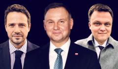Andrzej Duda, Szymon Hołownia, Rafał Trzaskowski. Sondaż - II tura wyborów to zdecydowana wygrana Hołowni z Dudą