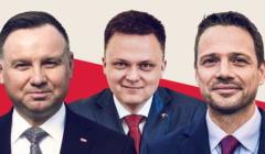 Andrzej Duda, Szymon Hołownia, Rafał Trzaskowski - sondaż OKO.press analizuje ich szanse na wygraną