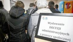 spadek ubóstwa w Polsce w 2019 roku - na zdjęciu wnętrze ośrodka pomocy społecznej