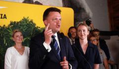 Przemówienie Szymona Hołowni na wieczorze wyborczym