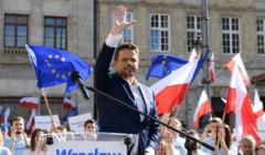 Rafał Trzaskowski na wiecu we Wrocławiu
