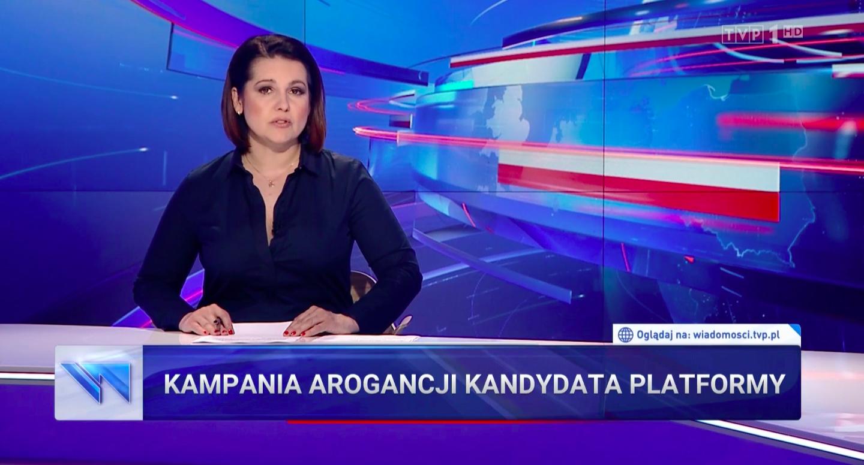 """""""Kampania arogancji kandydata Platformy"""", """"Wiadomości"""" TVP, 23 czerwca 2020"""