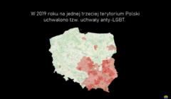 Zrzut ekranu - film o strefach wolnych od lgbt