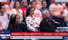 Jarosław Kaczyński i młodzi z PiS podczas Forum Młodych PiS